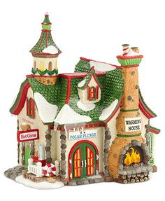 Department 56 Collectible Figurine, North Pole Village The Polar Plunge Warming House