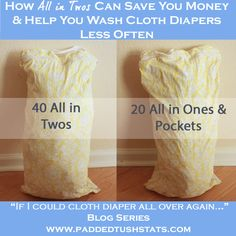Families who are cloth diapering twins (or simply have more than one child in cloth diapers at a time!) quickly realize that you have to wash your diapers frequently. Here is a simple tip for the best type of diaper to buy that will save you money (and le Wash Cloth Diapers, Cloth Nappies, Cloth Diaper Storage, Disposable Diapers, Homemade Baby Foods, Baby Milestones, Save Your Money, Baby Feeding, Washing Clothes