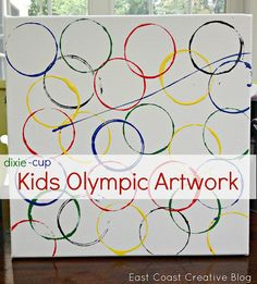 Olympic Ideas for Kids- Olympic Crafts from East Coast Creative Blog.