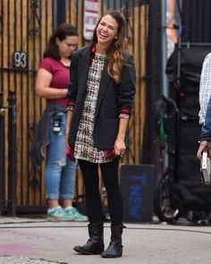 Sutton Foster is all smiles on set. Watch the new series YOUNGER coming to TV Land March 31 10/9C! From the creator of Sex and The City, 'Younger' stars Sutton Foster, Hilary Duff, Debi Mazar, Miriam Shor and Nico Tortorella. Discover full episodes at http://www.tvland.com/shows/younger.