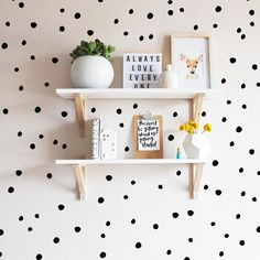 Create a fun atmosphere with graphic wallpaper and wall decals from Project Nursery! Our nursery wall graphics come in muted tones, bold colors, and more. Nursery Wall Decor, Nursery Room, Baby Room, Bedroom Decor, Ikea Girls Bedroom, Nursery Ideas, Polka Dot Walls, Polka Dots, Polka Dot Nursery