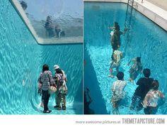 Fake pool, pretty cool illusion…