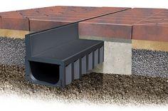 ACO HexDrain Brickslot provides a discreet slot drainage system for domestic block paving installation and threshold drainage.