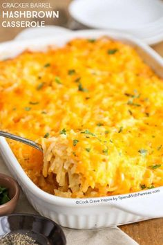 Cracker Barrel Hashbrown Casserole from Spend with Pennies. Breakfast Casserole Ideas for a Large Crowd this holiday season. Dump in all together and serve in in these holiday casserole ideas on Frugal Coupon Living.