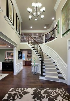 Duke at Alexandria Estates: luxury new homes in Pittstown, NJ toll brothers duke carolina Style At Home, Foyer Decorating, Interior Decorating, Interior Ideas, Stairway Decorating, Interior Designing, Decorating Ideas, Villa Plan, Design Case