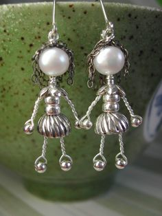 maryandjane earrings with dark hair and spiral mini by maryandjane, $58.00