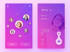 50 User profile page — Design Inspiration | by Muzli | Muzli - Design Inspiration Mobile Web Design, App Ui Design, Interface Design, Page Design, User Interface, Profile App, Profile Website, Chinese Design, Ui Design Inspiration