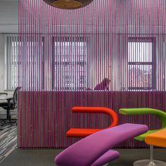 CELL stripfelt roomdividers l design: lamaconcept.nl l client: Sogeti Nederland l architect: MVINTBRO l 2013 #purplerain