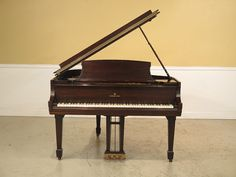 38262E: STEINWAY Mahogany Baby Grand Piano by StenellaAntiques