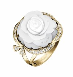 The Floral Gift Guide - Breguet gold, seashell, and diamond ring, $14,300, breguet.com.