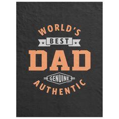World's Best Dad Fleece Blanket