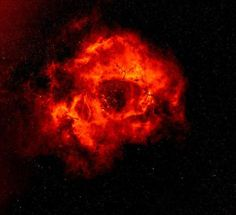 This is the dazzling Rosette Nebula! Presence of hot, young stars is heating surrounding gas to  6mil°C