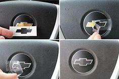 Steering Wheel Bowtie Overlay Decal – Chevrolet Silverado – (Color: Gloss Black) by Reflective Concepts Chevy Cruze Accessories, Truck Accessories, Chevy Colorado Accessories, Accessories Online, Chevrolet Impala, Chevrolet Silverado, 06 Impala, Chevrolet Traverse, 2013 Silverado