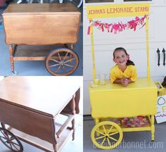 Lemonade Stand Birthday Party~Time to paint my cart!