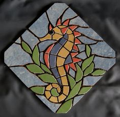 Mosaic Garden Art, Mosaic Tile Art, Mosaic Artwork, Mosaic Crafts, Mosaic Projects, Mosaics, Sea Glass Mosaic, Stone Mosaic, Stained Glass Patterns
