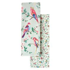 Set of 2 British Birds & Little Birds Tea Towels Dinner With Friends, Oven Glove, Boxing Day, Kitchen Themes, Cath Kidston, Little Birds, Christmas Morning, Soft Furnishings, Kitchen Accessories