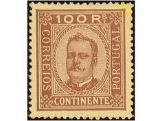 Portugal 66/77 CTA. 1892 Carlos I. 12 val. Serie completa con dentados mezclados.  Dealer Filatelia Llach, S.L.  Auction Minimum Bid: 350.00EUR