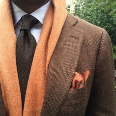 Fall Menswear - Orange and Brown