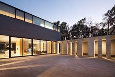 Completed in 2015 in Kharkiv, Ukraine. Images by Andrey Avdeenko. The house is located on a clearing inside an oak-tree forest that is homogenous in its structure. Much in the same way as flat steppe, the homogenous...
