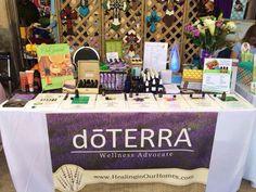 vendor show display ideas Vendor Displays, Craft Show Displays, Display Ideas, Vendor Table, Vendor Booth, Trade Show Design, Doterra Wellness Advocate, Vendor Events, Doterra Essential Oils