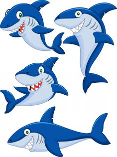 Find Cartoon Shark Collection Set stock images in HD and millions of other royalty-free stock photos, illustrations and vectors in the Shutterstock collection. Thousands of new, high-quality pictures added every day. Free Vector Illustration, Shark Images, Shark Silhouette, Shark Drawing, Sharks For Kids, Blue Shark, Drawing For Kids, Cute Cartoon, Cartoons