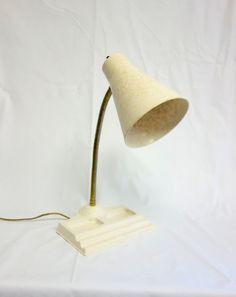 Vintage Fiberglass Gooseneck Desk Lamp Task Light by BeeHavenHome