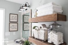 modern farmhouse bathroom makeover, bathroom ideas, home decor, wall decor