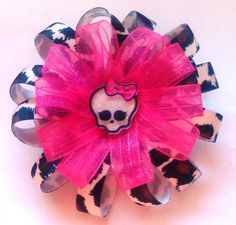 Monster High hair bow by SuzziesBowtique on Etsy, $5.75