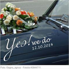 Autoaufkleber Hochzeit - Yes we do