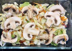 Przekładaniec z młodej kapusty i karkówki w ketchupie - Blog z apetytem Pasta Salad, Pork, Food And Drink, Chicken, Ethnic Recipes, Diet, Essen, Crab Pasta Salad, Kale Stir Fry