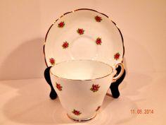 Regency English Bone China Tea Cup and Saucer Delicate Pink Rose Pattern #RegencyEnglishBoneChina