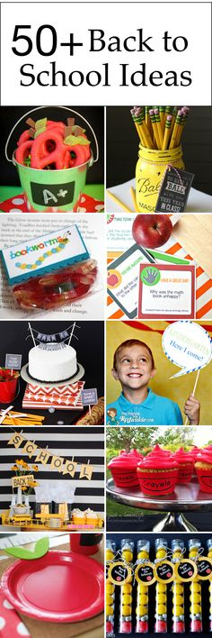 back to school ideas - lunch ideas, party ideas, teacher gift ideas, first day…