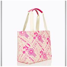 Kate Spade New York  Canvas/Fabric Tote Shopper NEW.... VERY CUTE THINGS WE LOVE 20th ANIVERSARY CANVAS TOTE/ SHOPPER.....PERFECT FOR SPRING AND SUMMER.... I HAVE TWO OF THEM IF INTERESTED LET ME KNOW....I'll MAKE ANOTHER LISTINGS FOR YOU  kate spade Bags