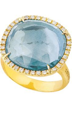 Marco Bicego blue topaz Jaipur Sunset ring