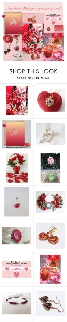 """My heart belongs to you and you and..."" by pippinpost ❤ liked on Polyvore featuring vintage"