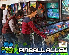 Take a step back in time and let your inner kid run wild through Salt Lake Gaming Con's Pinball Alley hosted by Salt Lake Area Pinballers.   #pinball #slgc17 #saltlakegamingcon #gamingcon #gaming #classicgames #utah #wyoming #nevada #idaho