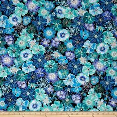 Kanvas Floral Impressions Navy from @fabricdotcom Designed by Kanvas in association with Benartex, this cotton print collection features beautiful florals perfect for quilting, apparel, and home decor accents. Colors include aqua, blue, purple and gold.