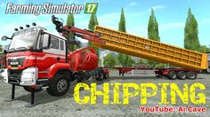 Farming Simulator 17 Mods Wood Chipper JENZ HEM 583 on MAN TGS Truck & S...