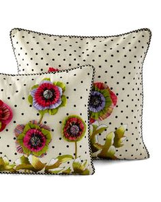 -5RD8 MacKenzie-Childs  Cutting Garden Square Pillow Cutting Garden Lumbar Pillow