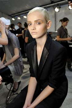 Ginta Lapina backstage @ Chloe S/S 2011 #fashion #models
