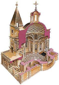 RENAISSANCE ARCHITECTURE, France accepts Classicism; chapel d'Anet, by Philibert de l'Orme.