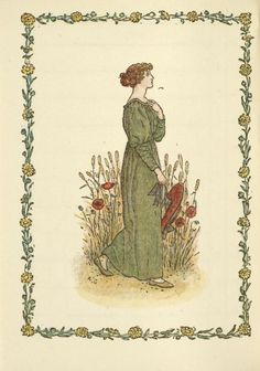 August - Kate Greenaway's Almanack for 1897