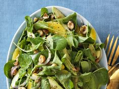 Watercress, Avocado and Orange Salad...This 15-minute salad is tossed with sliced red onion and a simple dressing of Dijon mustard and orange juice
