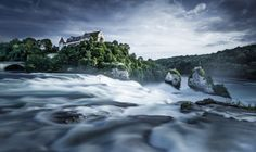 The Rhine Falls (Rheinfall in German) is the largest plain waterfall in Europe. Rhine Falls Switzerland, Skyline, Main Attraction, Fall Photos, National Geographic Photos, Your Shot, Natural Wonders, Amazing Nature, Amazing Photography