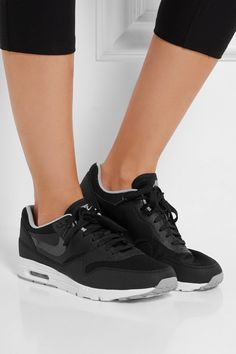 best service f2b65 53c64 Nike   Air Max 1 Ultra Essentials leather and mesh sneakers   NET-A-