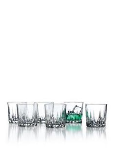 Stylesetter by Crystal Clear  Florence Set of 6 Double Old Fashion Gla