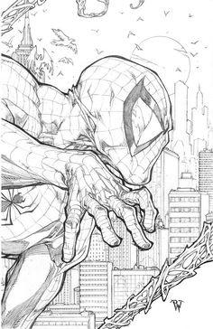 Spiderman by inkeravan on DeviantArt Comic Book Characters, Comic Character, Comic Books Art, Book Art, Marvel Drawings, Spiderman Art, Spiderman Drawing, Bd Comics, Comic Drawing
