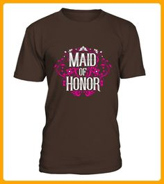 Maid Of Honor Shirt Vintage Floral Fancy Bachelorette Bride - Fan shirts (*Partner-Link)