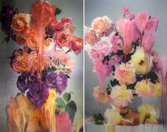 Skilled artist and photographer Nick Knight has recently launched a body of work in London, which took him nearly 10 years to develop. Taking large scale floral photography, inspired by 16th century still life paintings, Nick exposes the prints to heat and water during the printing process which results in the most unique and breathtaking hybrid of photography and painting.
