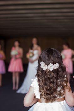 Flower girl's hair